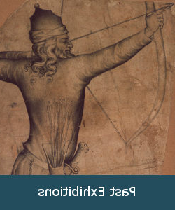 Detail of a 14th century drawing of an archer
