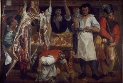 Annibale Carracci, The Butcher's 店 (JBS 181)