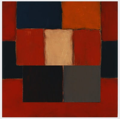 Sean Scully's painting 掉落暗