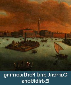 Detail of painting titled View of Venice