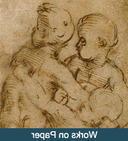 Detail of a drawing by Raphael